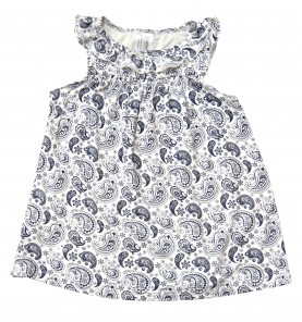 Dress – Navy Paisley Last One 6-7 $10