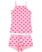 PINK KITTY 2PC BOXER AND CAMI $15
