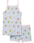TANK & SHORTS PJ'S – Blue ice cream $15