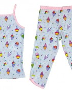 2PC SET CAMI & 3/4 PANT – ICE CREAM $15