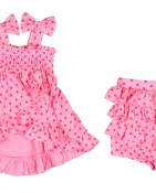 BOWTIE DRESS – PINK HEART $15